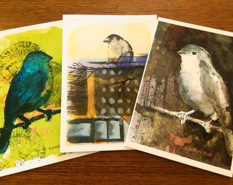 Little Birds greeting cards