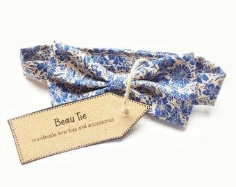 Baby boys bow tie, baby bow tie, floral boys bow tie, wedding boys bow tie, page boy