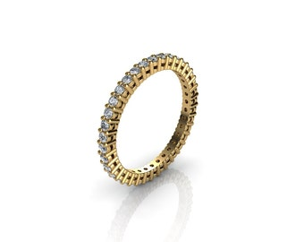 0.50 CT. Diamond Eternity Ring With Open Gallery In Yellow Gold