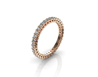 0.50 CT. Diamond Eternity Ring With Open Gallery In Rose Gold