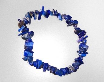 Elastic Baroque Bracelet with chips Lapis Lazuli