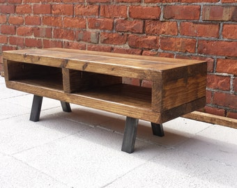 Tv stand contemporary rustic industrial tv unit or coffee table