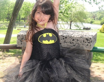Bat Girl Costume//Bat Girl Tutu//Halloween Costumes//Halloween Tutu//Superhero Costume//Superhero Tutu