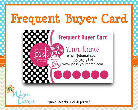 perfectly posh frequent buyer card business card by weeziesdesigns. Black Bedroom Furniture Sets. Home Design Ideas