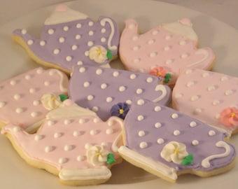 Twelve Teapot and Teacup Sugar Cookies