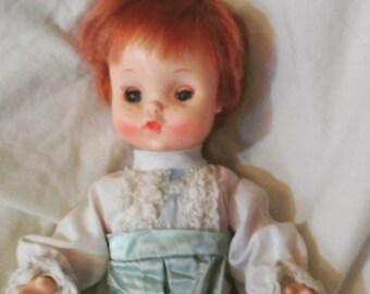 Cute Effanbee Doll Strawberry blond hair 1966