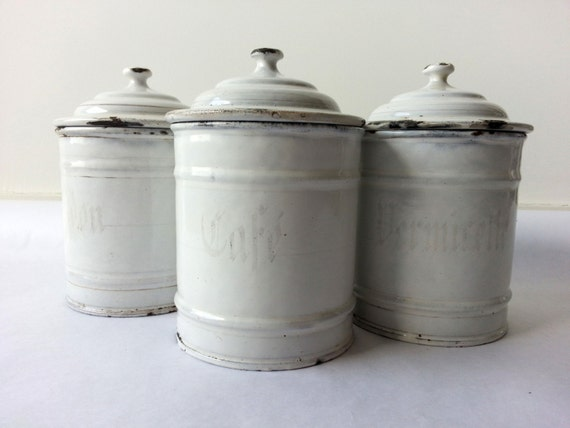 white canisters for kitchen 1930 s kitchen white canisters set of 3 22683