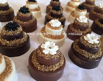 Mini Chocolate Wedding/Birthday Cake