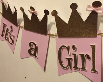 Its a girl princess banner