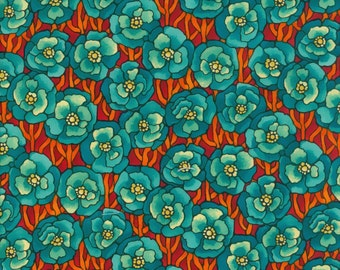 Fabric Freedom 'Reduced Price' F853-2 Light Fantastic Poppies Patchwork Quilting