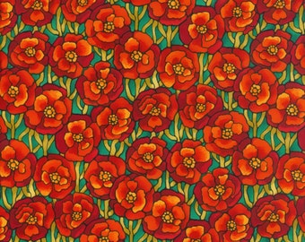 Fabric Freedom 'Reduced Price' F853-3 Light Fantastic Poppies Patchwork Quilting