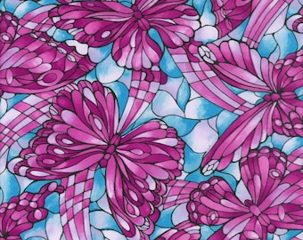 Fabric Freedom 'Reduced Price' F852-4 Light Fantastic Butterflies Patchwork Quilting