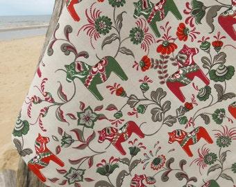 Swedish Dala Horse Tea Towel Swedish Horse Kitchen Towel Scandinavian Swedish Folk Art Dish Towel Dala Horse Towel Gift For Horse Lover