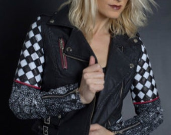 Vandalize Apparel  Optical Illusion Quilted Jacket