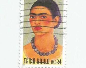 5 Frida Kahlo Used Postage Stamps