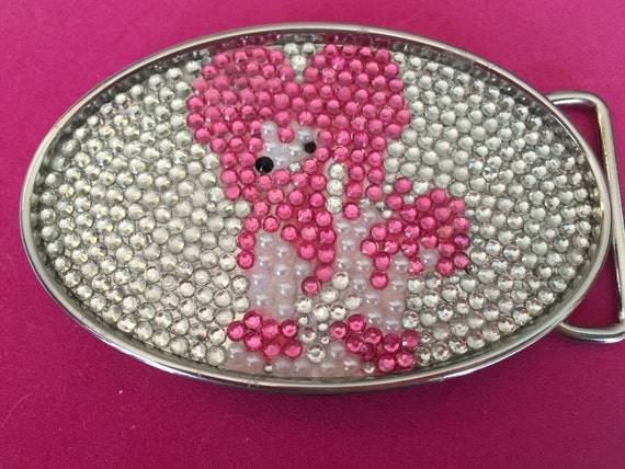 Rhinestone Chinese Crested Belt Buckle