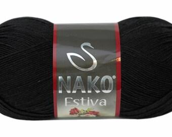 Summer yarn. Black yarn cotton bamboo.