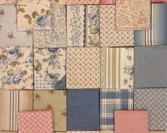 Olivia Fat Quarter Bundle - 29 Different Prints - Cotton Quilt Fabric - by Michele D' Amore for Benartex Fabrics - (W2586)