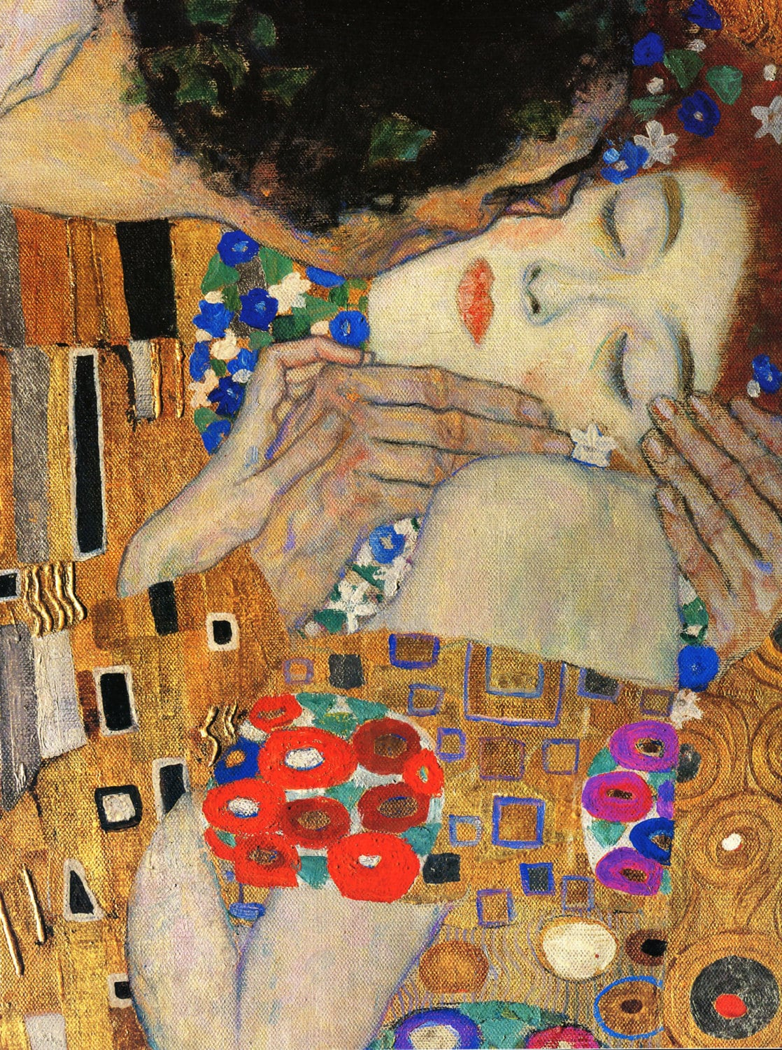 Fabric Panels Gustav Klimt The Kiss Symbolist Art Craft
