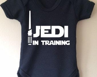 Jedi in Training - Star Wars inspired baby body/vest/bodysuit Glow in the Dark