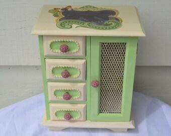 OOAK Garden Inspired Refurbished jewelry Box