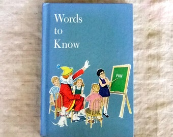 Vintage Children's Textbook, Words To Know