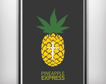 pineapple express  minimal minimalist movie poster