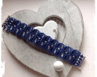 Micro Macrame Tutorial DIY Bracelet  Leaf Pattern Beaded Macrame