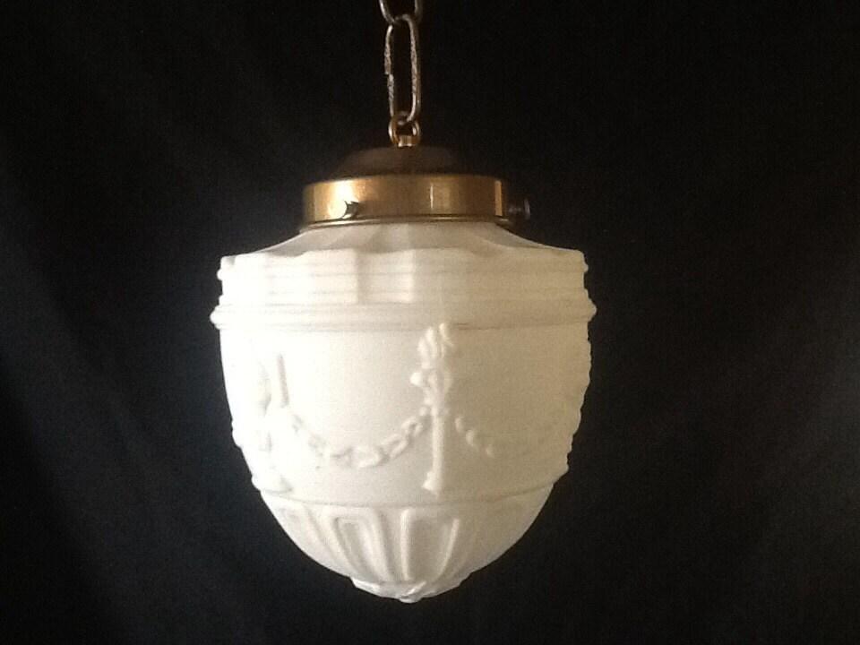 Vintage Foyer Lighting : Antique foyer hallway pendant light white roman by
