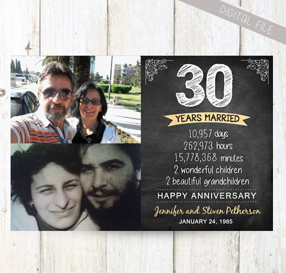 30th Wedding Anniversary Gifts For Husband: 30th Anniversary Gift For Wife Husband Or Best By LillyLaManch