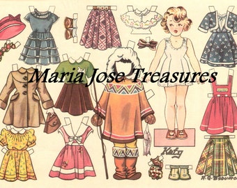 Vintage American Girl Paper Dolls - Digital Download