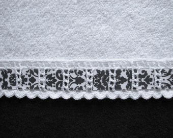 Hand Crocheted Guest Towel Trim Edging