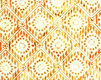 Anthology Fabrics Bali Batik 9515 Diamond Burnt Orange Yardage