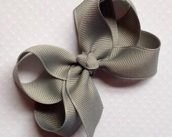 3 inch Hair Bow Millenium Silver