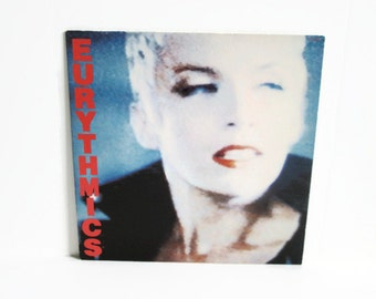 Vintage Record Album, Eurythmics LP Be Yourself Tonight, Vinyl Record Album, RCA Records New Wave Music British Duo Annie Lennox, 1980's Pop