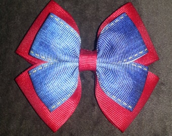 Denim Handmade Basic Bow