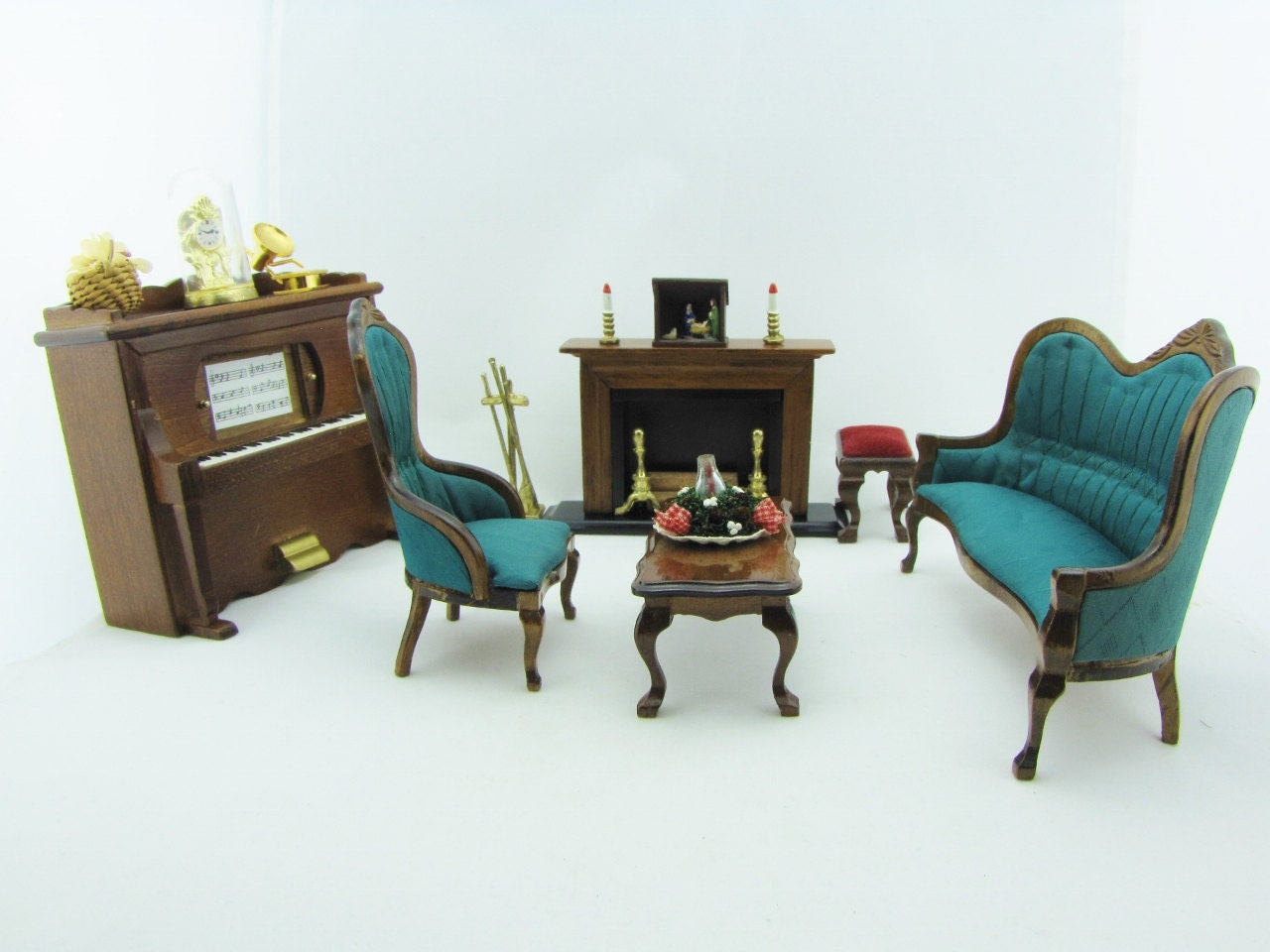 Dollhouse living room parlor setting room furniture victorian for Parlor or living room