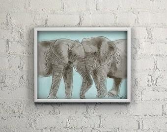 Elephant Kisses *INSTANT DOWNLOAD*
