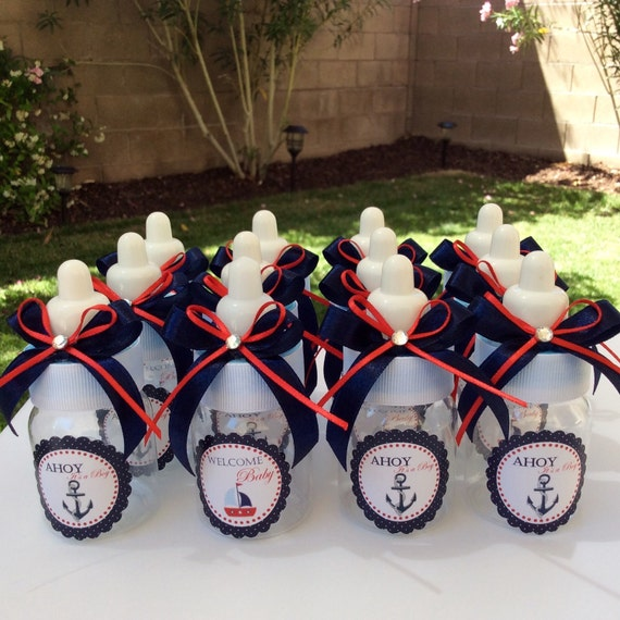 nautical baby shower favors anchor baby bottles nautical baby shower