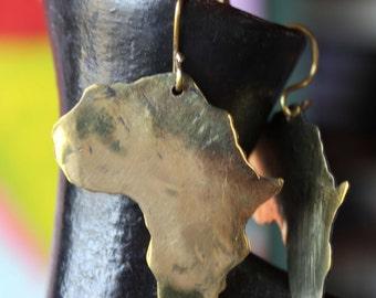 Earrings out of Brass, African Design
