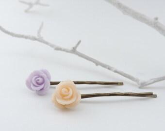 Rose Hair Clips