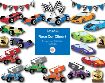 Race Cars, Clipart, Clip Art, Digital Elements, Racing Clipart, Racing Banner, Checkered Flags, Trophy, Scrapbook Clipart, Craft Supply