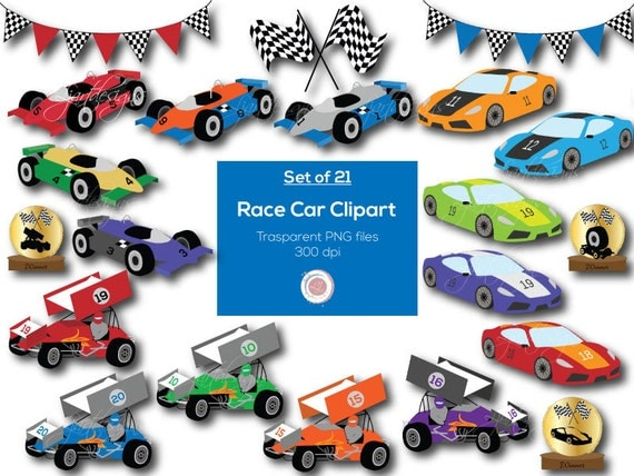 Race Cars Clipart Clip Art Digital Elements Racing Rh Catchmyparty Com Car