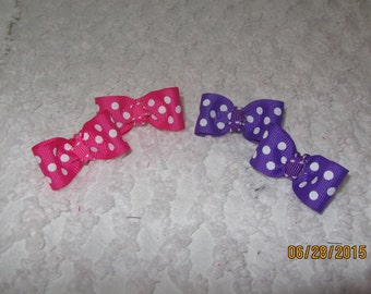 READY to SHIP Dog Hair Bows Choose a pair or mix and match