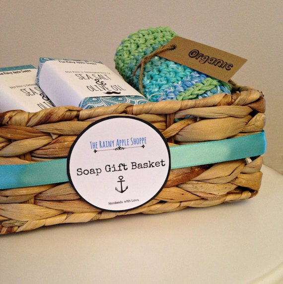 Handmade Gifts Baskets : Customizable gift basket with soap gifts baskets for dad
