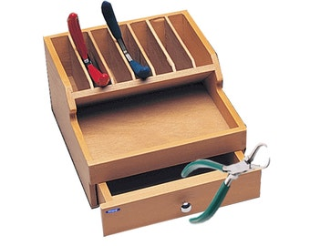 Wooden Plier Rack WIith Drawer Storage Tool Orrganizer WA 140-139