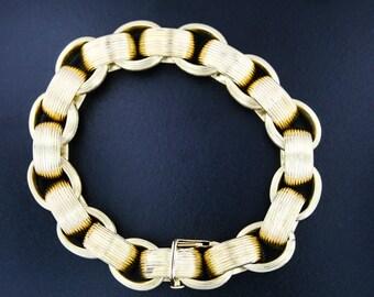 "18kt yellow gold HEAVY curb bracelet 76.8 grams 8 1/2"""
