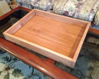 Large Rustic Wooden Tray