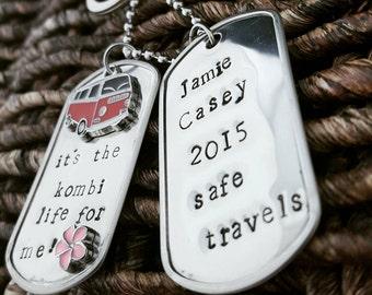 Stainless Steel Kombi Dog Tag Key Chain