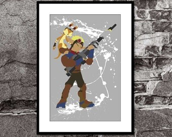 Jak and Daxter - PS4 - Playstation- Super Mario Brothers Inspired - Video Game Art Poster
